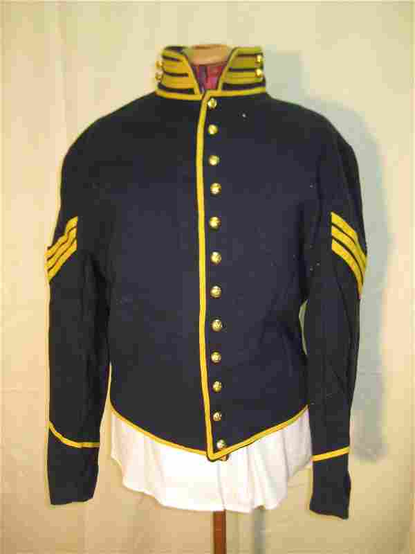 236: Navy Military Style Coat w/Gold Stripes & Blue Pan
