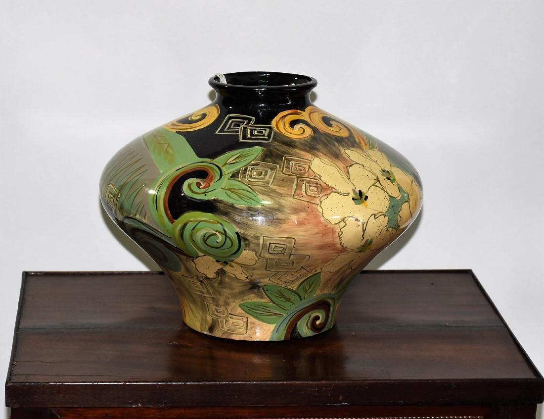 Art Deco Vase Hand Painted