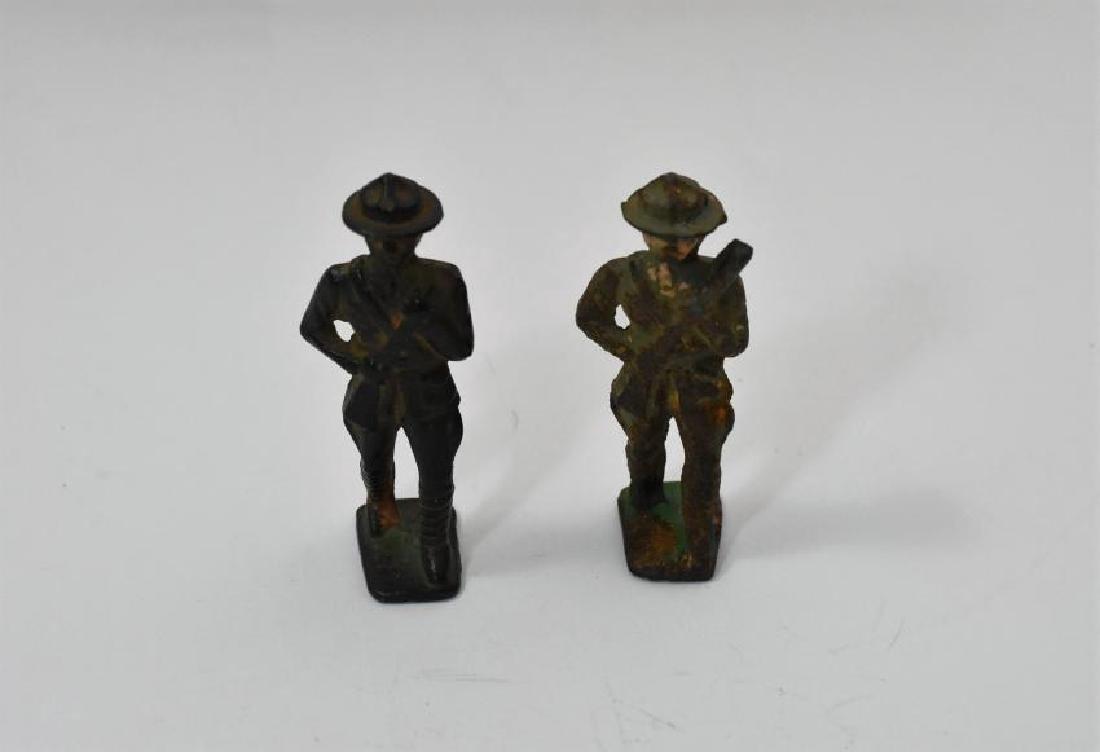 Vintage WWI cast Iron military figurines