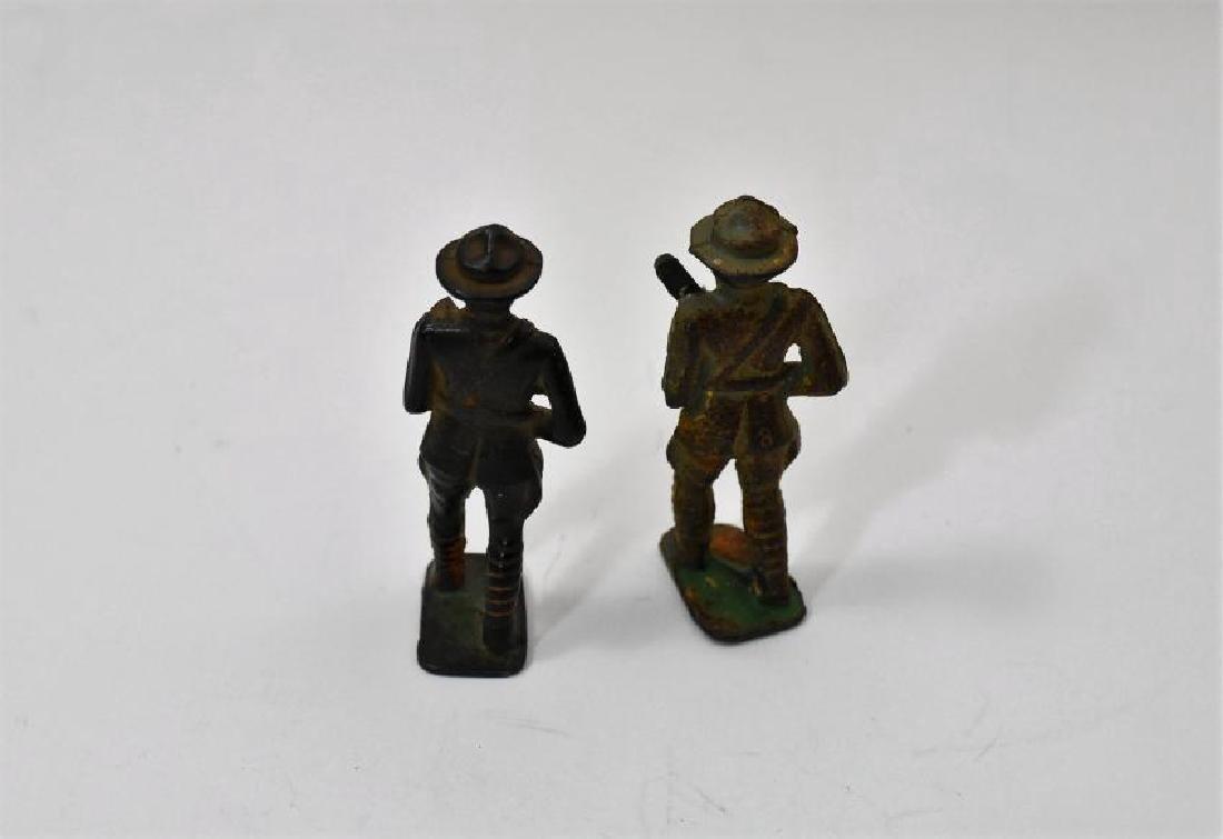 Vintage WWI cast Iron military figurines - 2