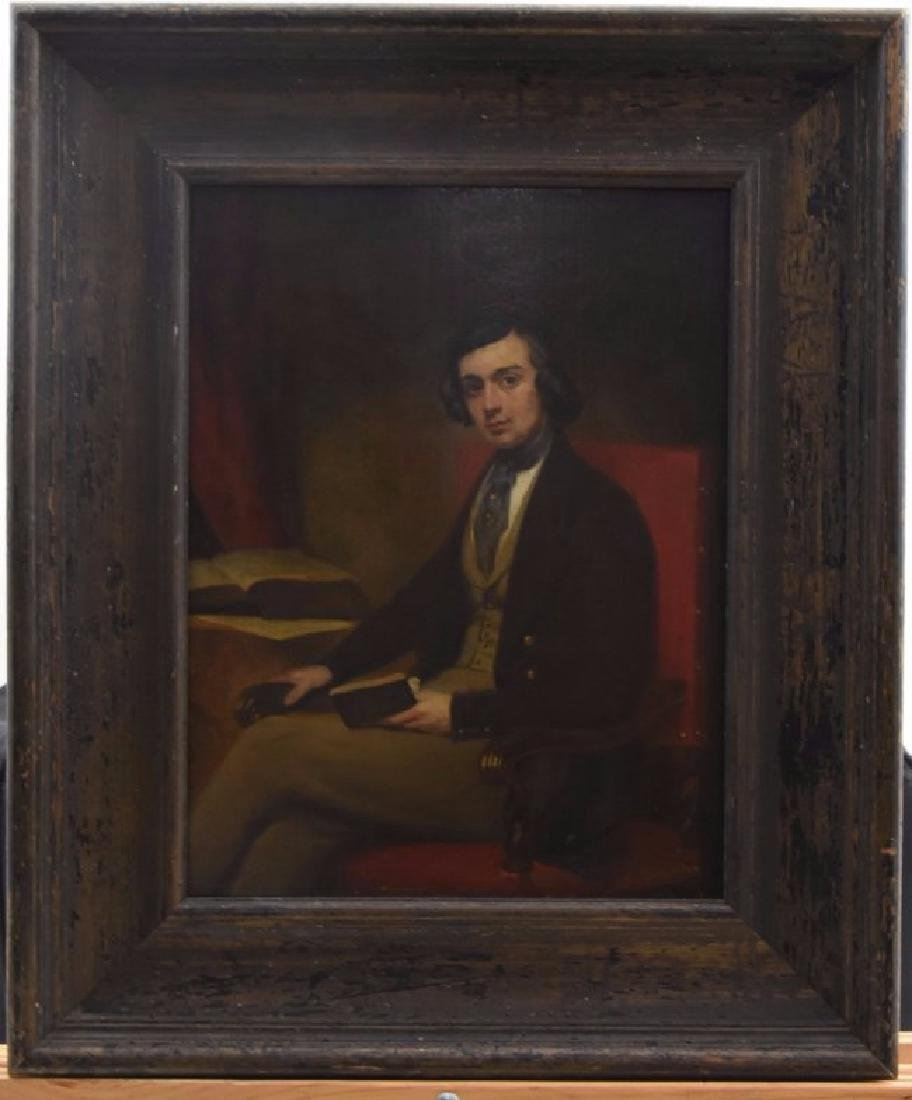 Portrait of young man signed L.C. Mincer