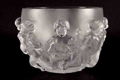 """Lalique """"Luxembourg"""" Crystal Bowl"""
