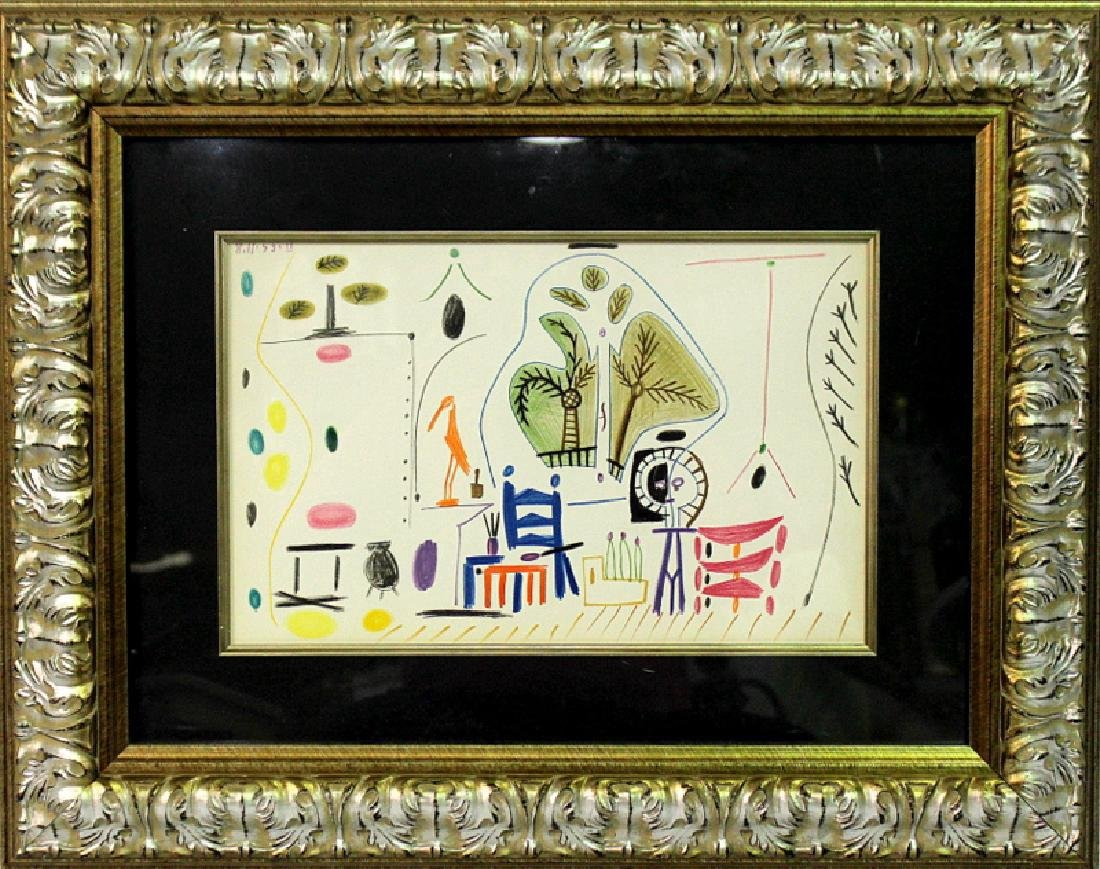 Pablo Picasso (Spanish, b 1881-19730) Signed and