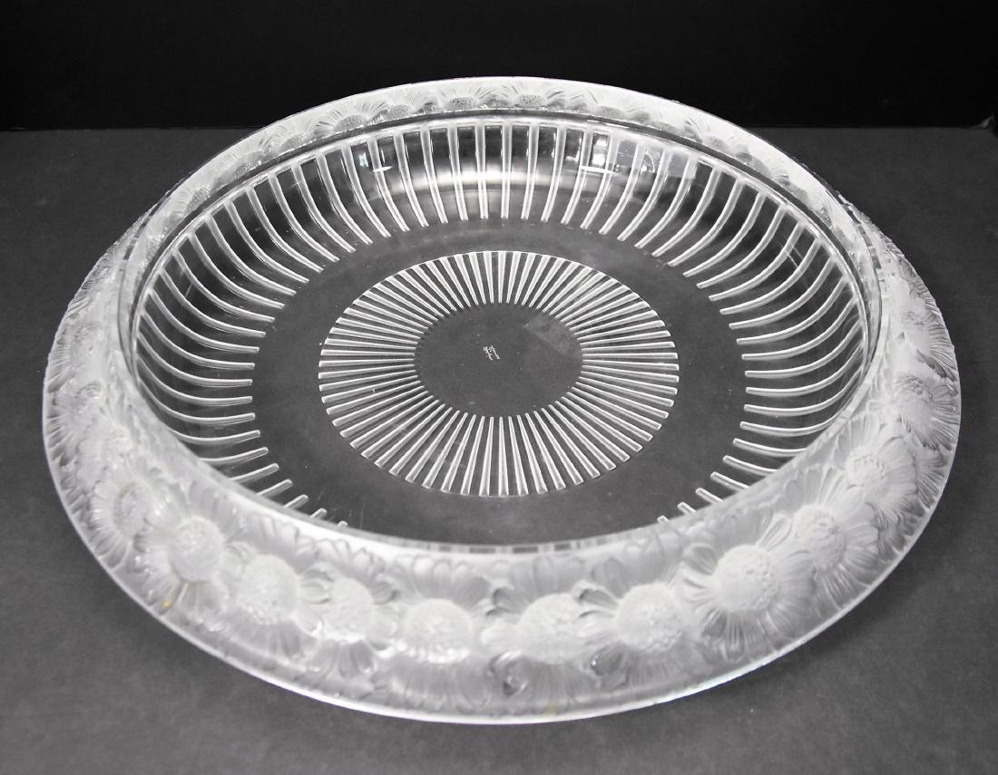 Lalique Signed Crystal Bowl - 3