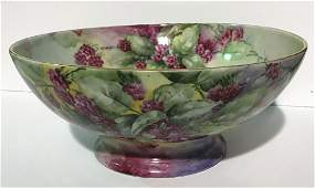 Limoges Large Hand Painted  Bowl