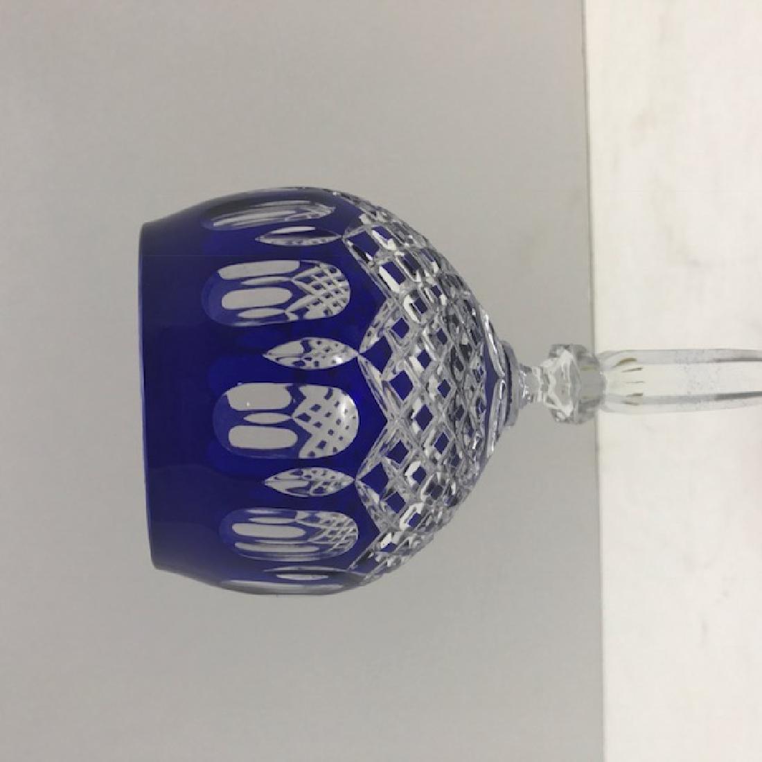 "Cut To Clear Cobalt Blue 9"" 3 1/2"" German crystal"