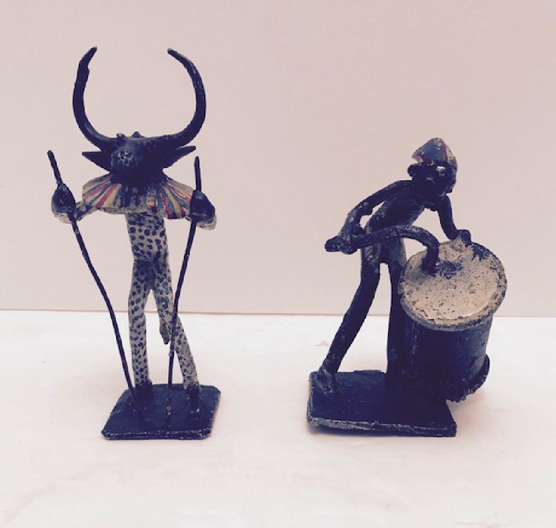 African Folk Art walk real Late early 1900s Metal - 4
