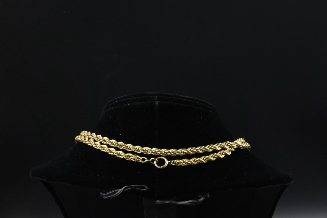 "2.12 OZT Gold 12K gold large rope wive. 35"" long - 2"