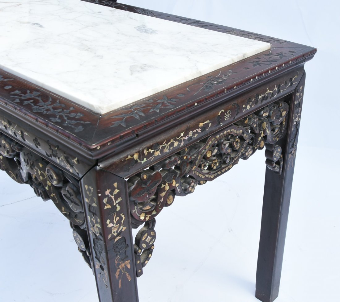 Chinese early 1900 Table Mother of pearl inlay - 2