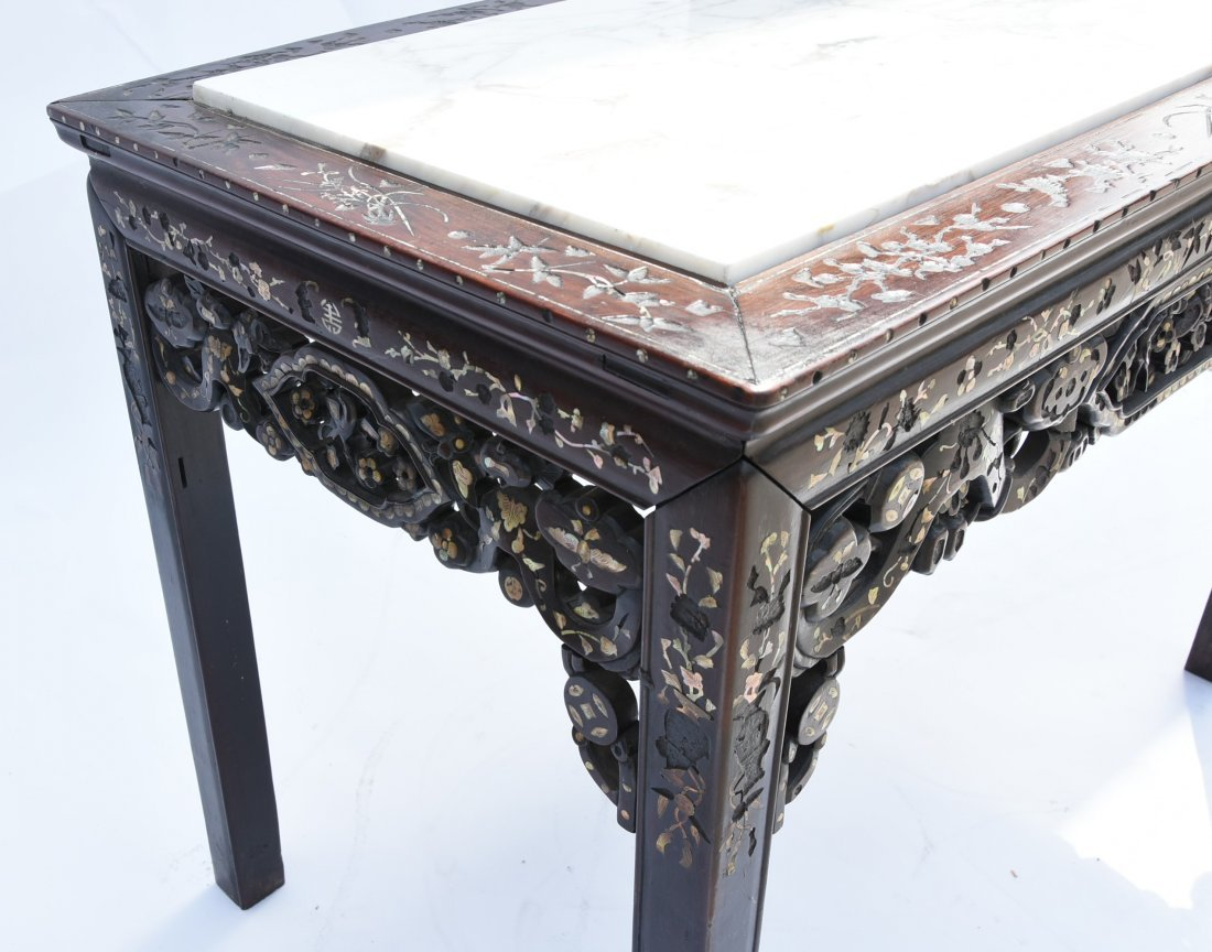 Chinese early 1900 Table Mother of pearl inlay - 4