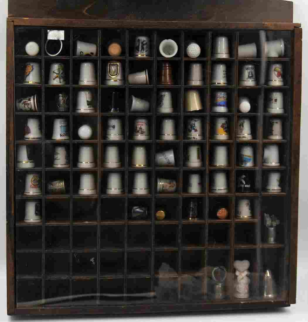 Thimbles in display box