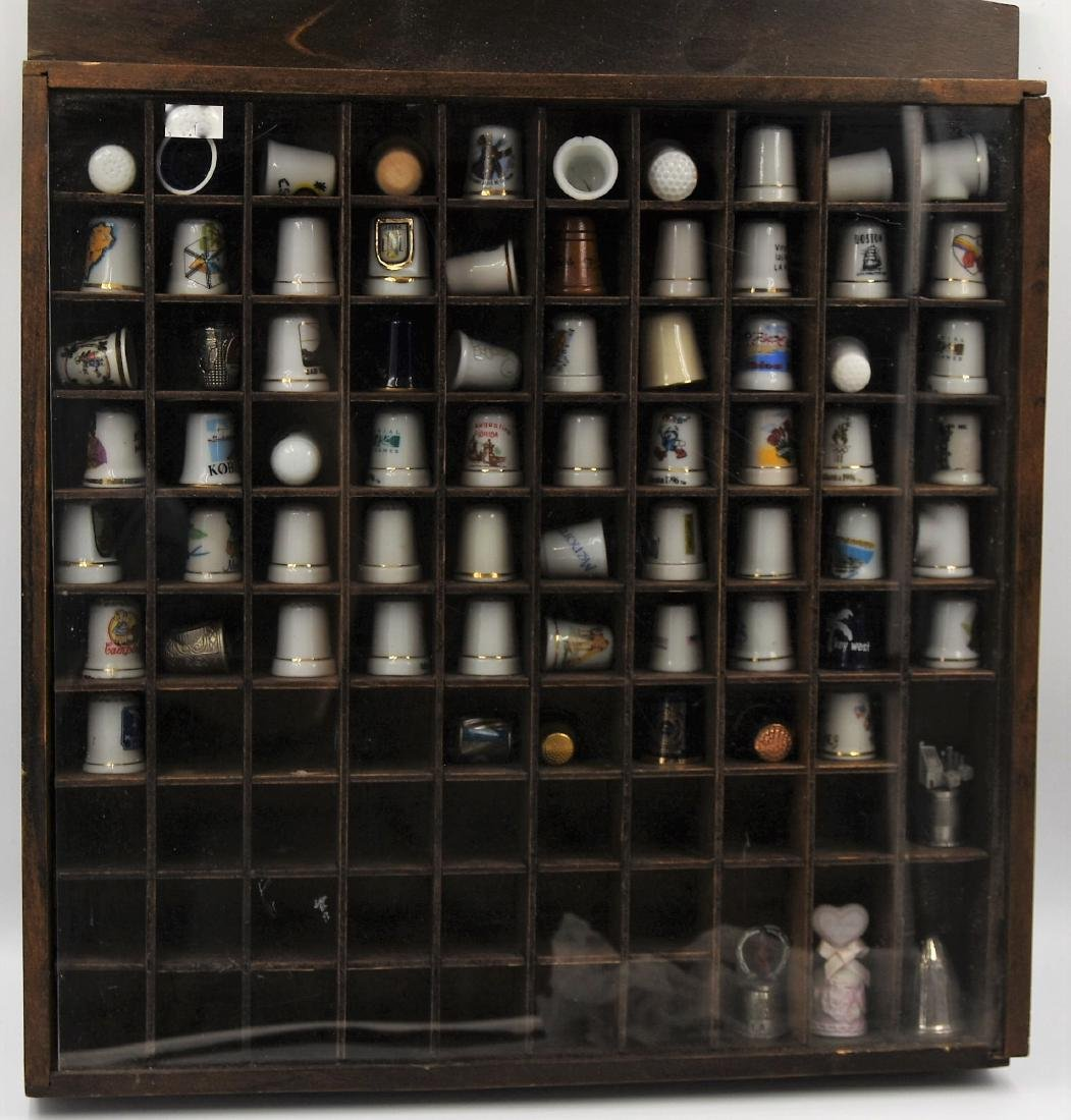 Thimbles in display box