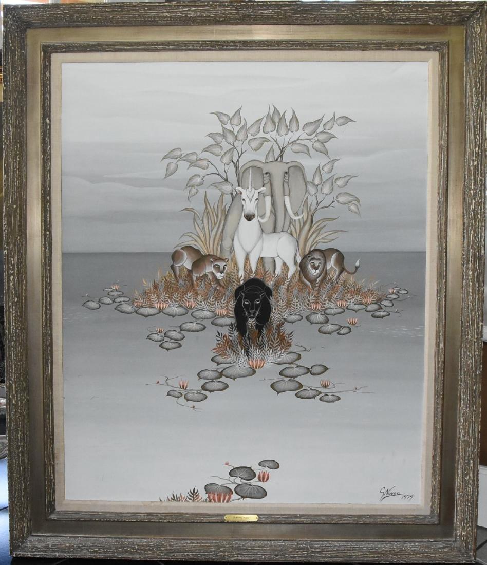 Gustavo Novoa (Chilean, 1941) Acrylic on Canvas