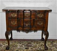 Walnut and Mahogany Side Table by Heritage