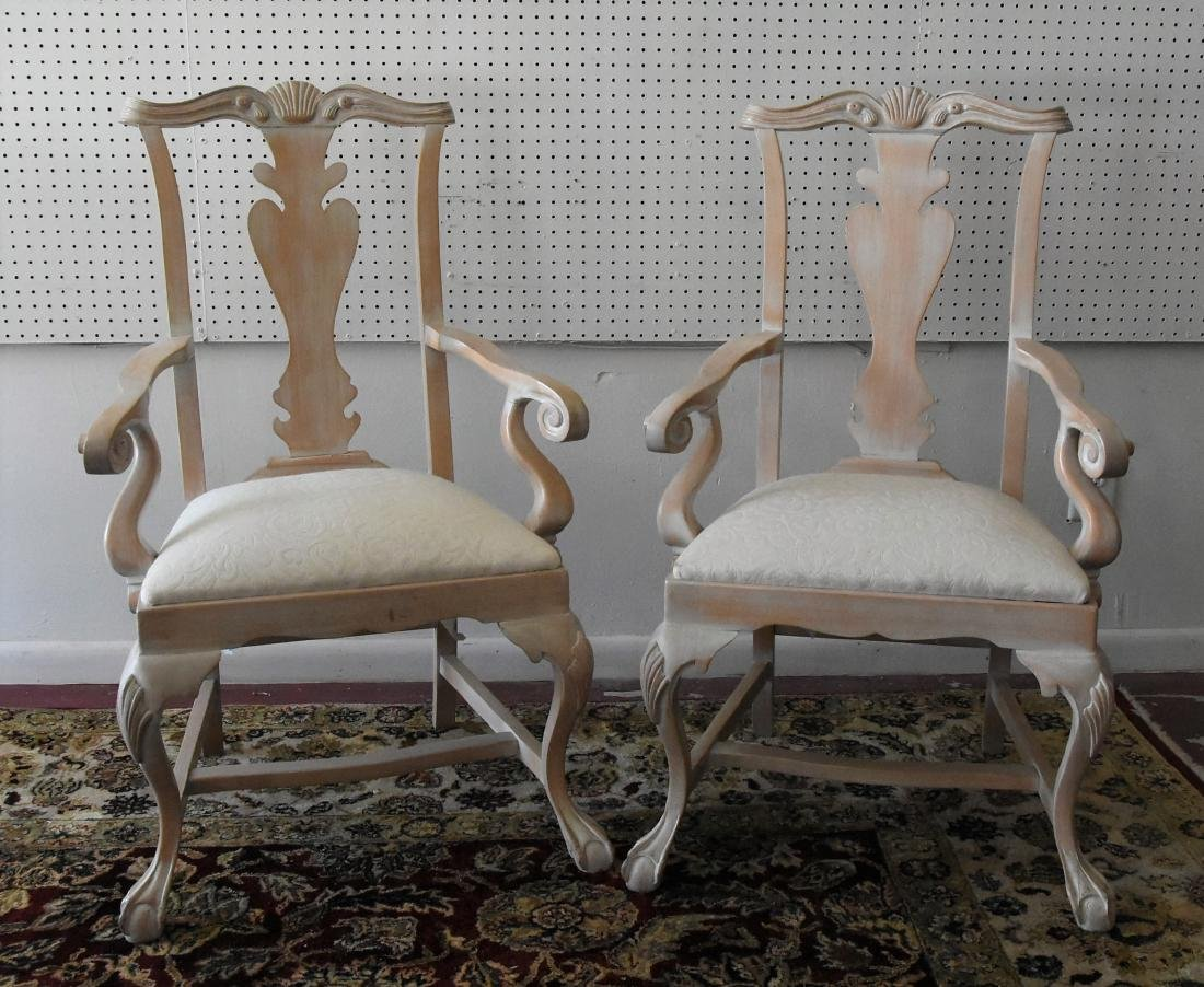 Pair of Cream Upholstered Chairs