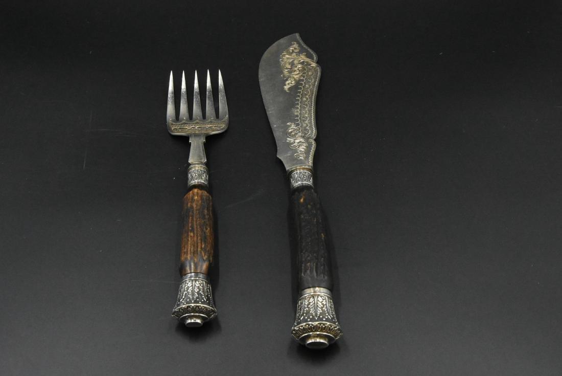 Serving Knife and Fork