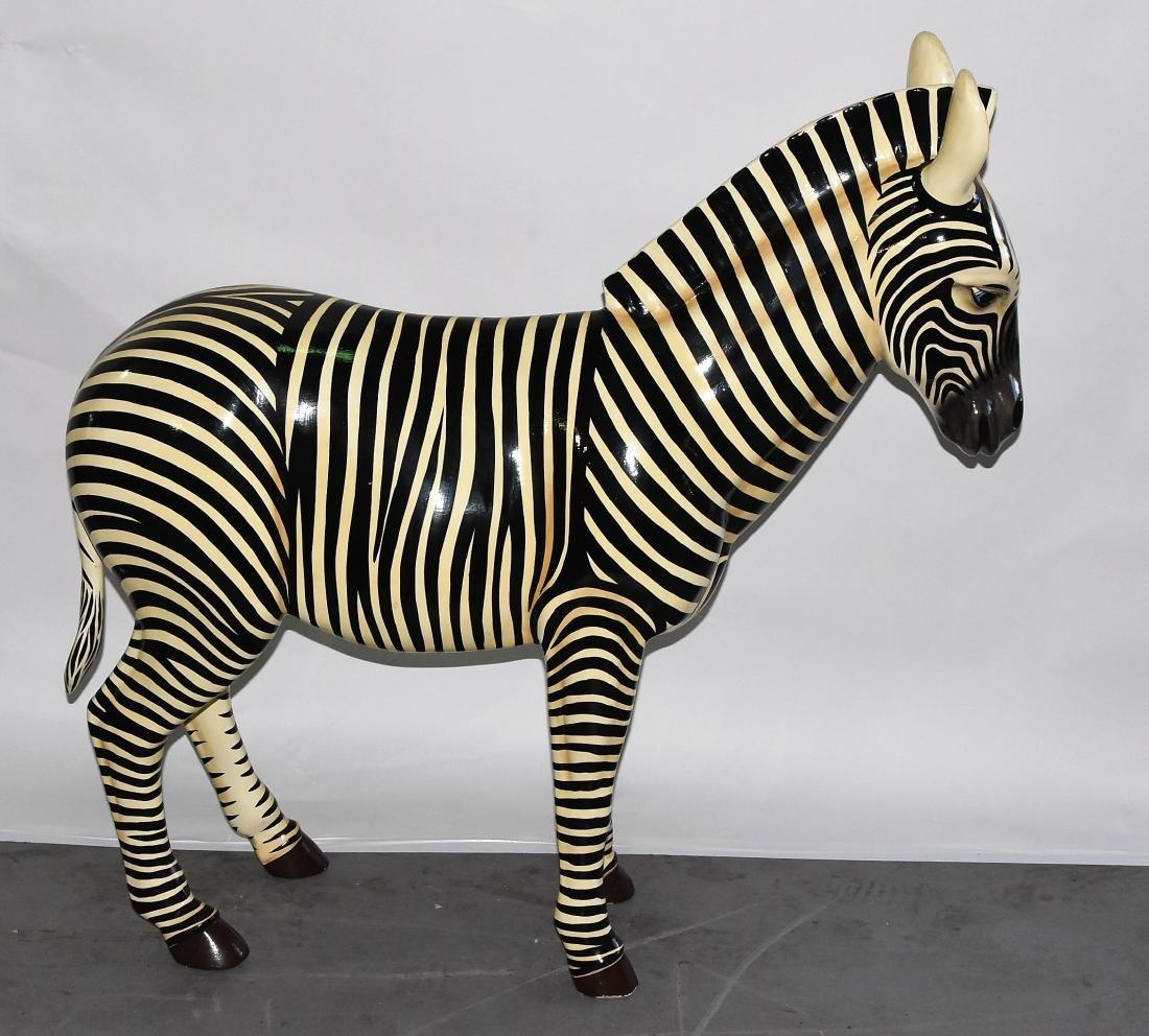 Decorative Zebra Signed by Artist