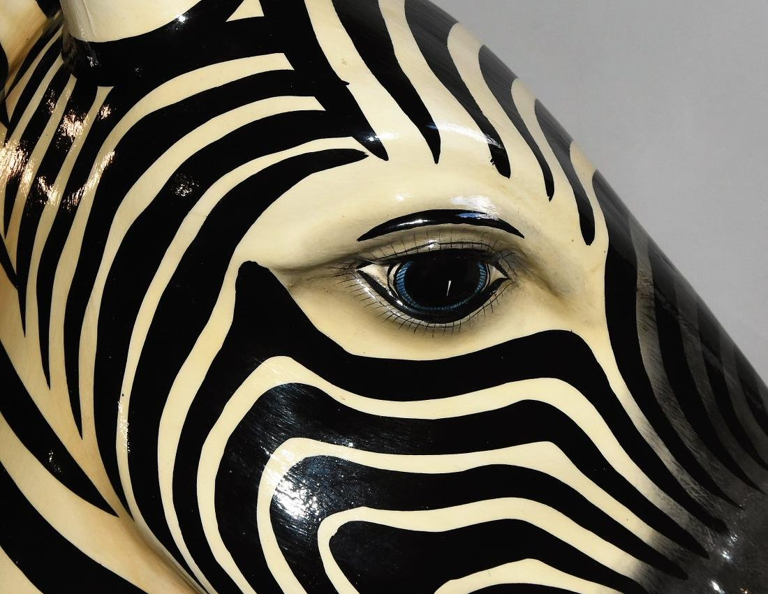 Decorative Zebra Signed by Artist - 3