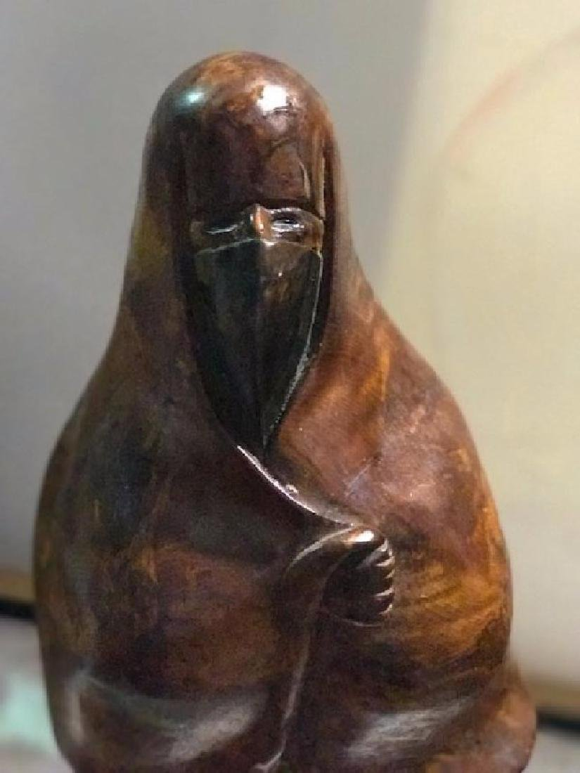"Middle Eastern Woman Carving signed ""Milan"""
