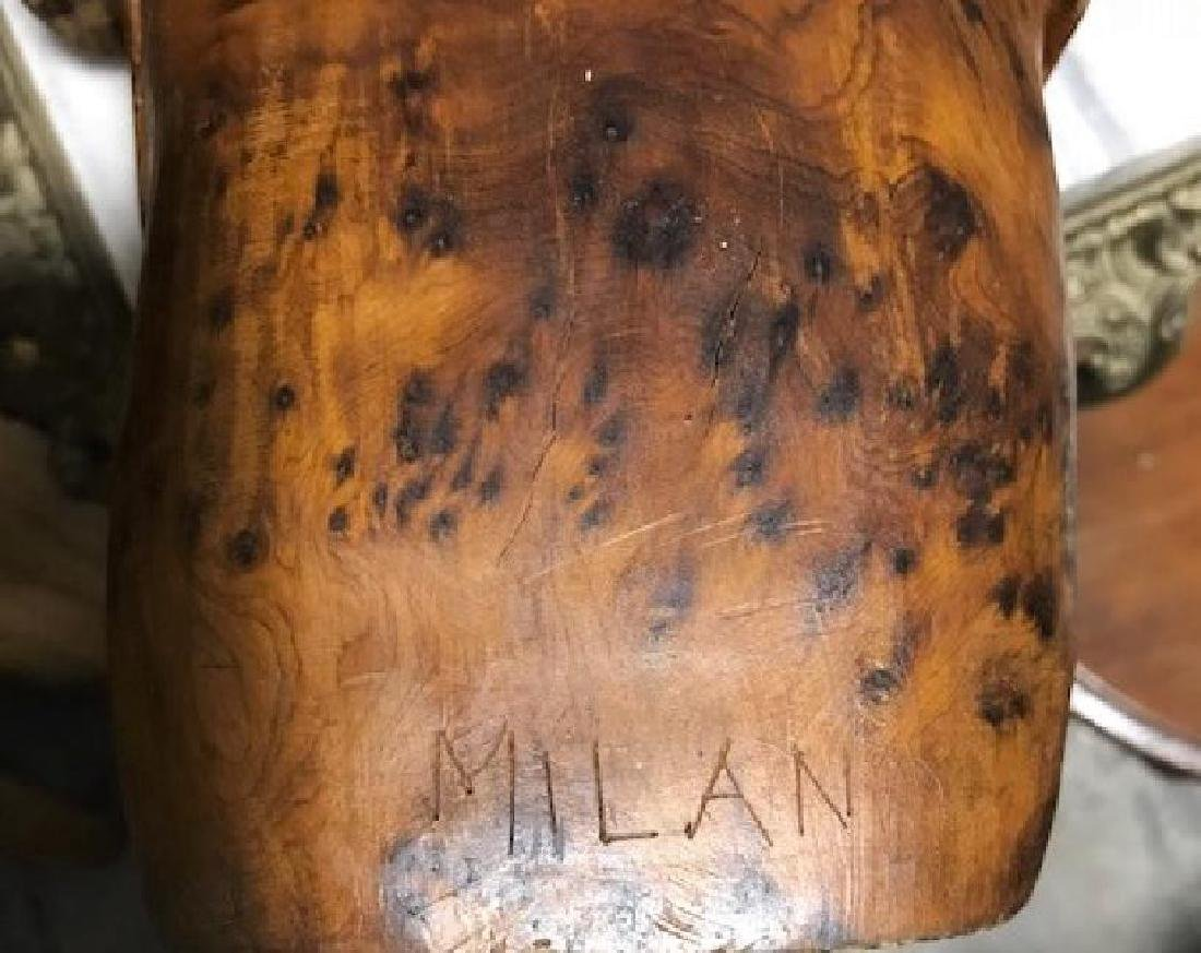 "Middle Eastern Woman Carving signed ""Milan"" - 2"