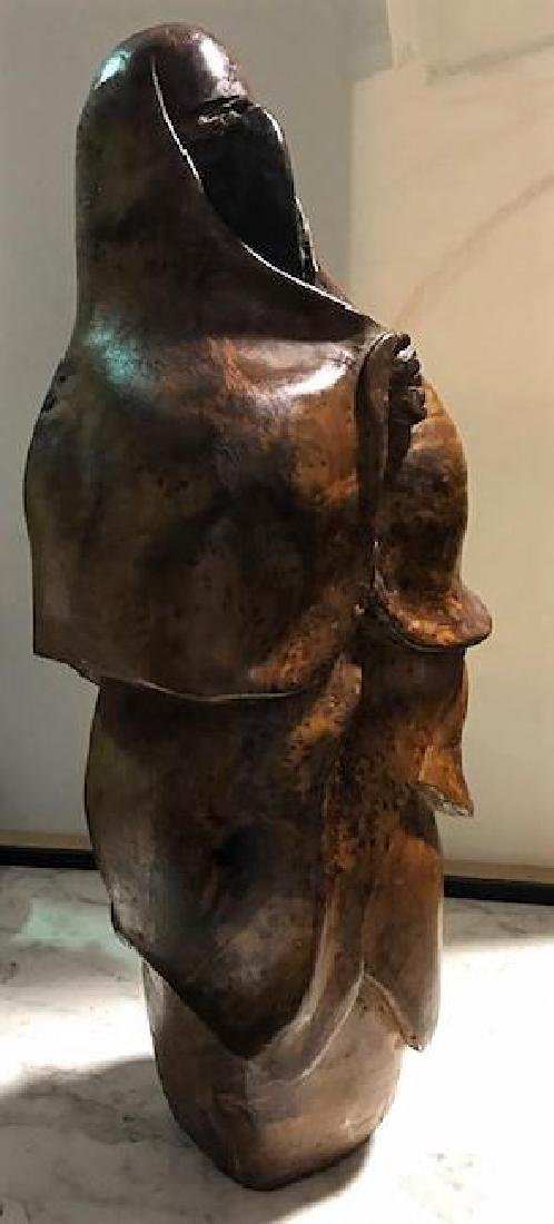 "Middle Eastern Woman Carving signed ""Milan"" - 3"