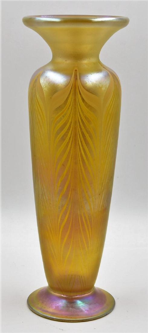Tiffany Favrile glass vase signed