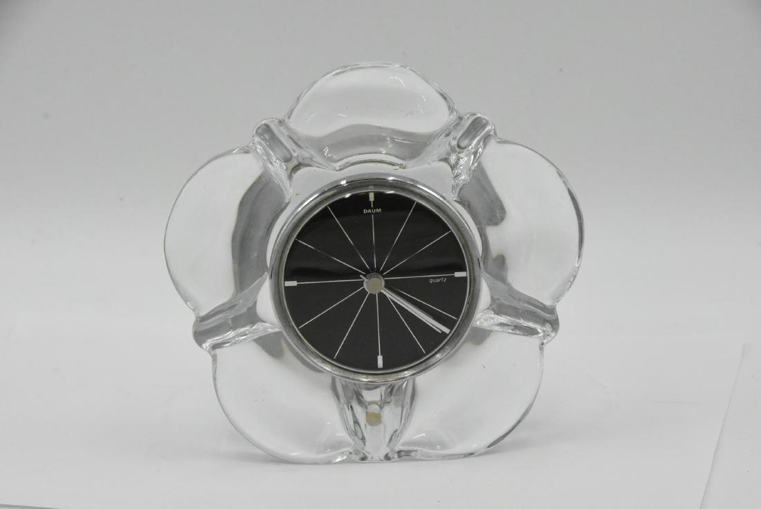 Daum France Crystal Clock