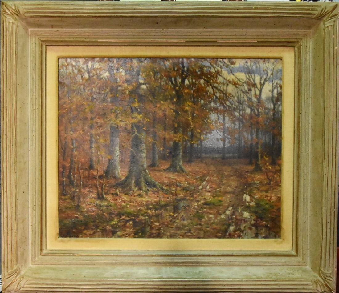 John Elwood Bundy (1853 1933) Oil On Canvas, Large