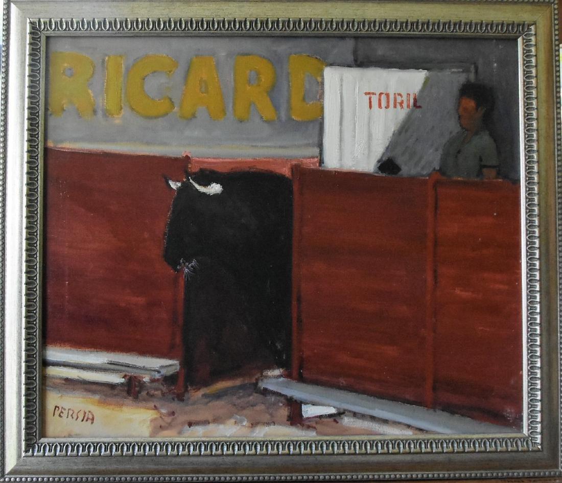 Alfred  Persia (1933-) Oil On Canvas Impressionistic