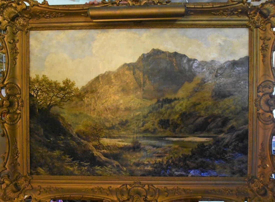 "Charles Pettitt (1831-1885)  30"" X 50"" Oil On Canvas,"