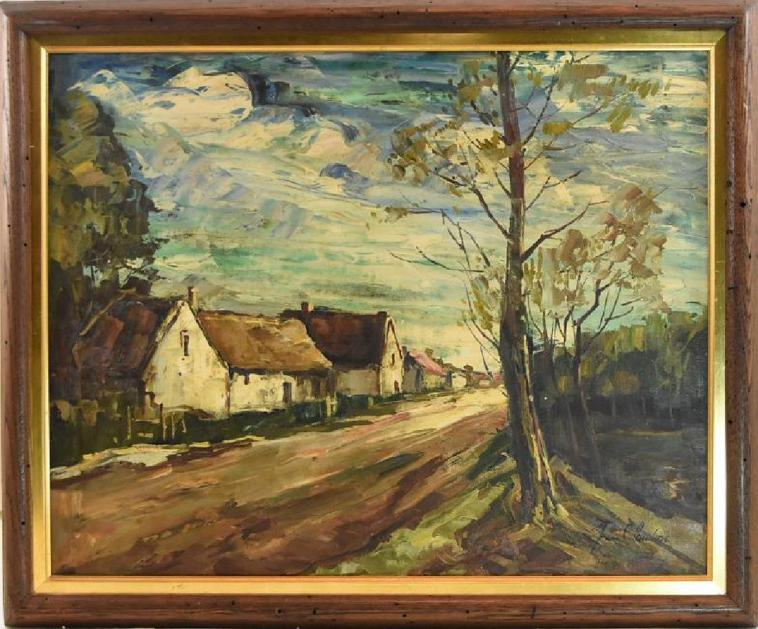 """J. Claudon French 20 1/4""""W X 16 1/4""""H Signed"""