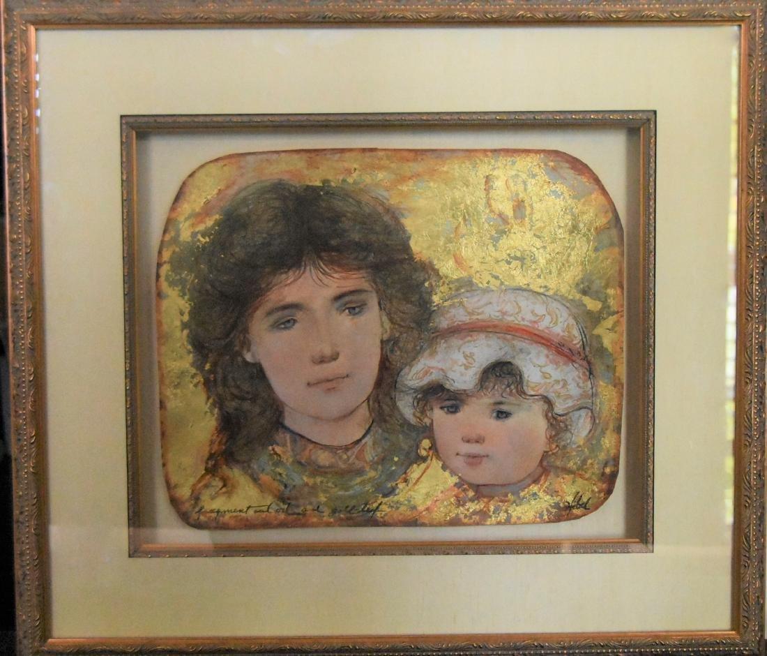 Edna Hibel (1917-2014) Large Oil On Canvas Museum