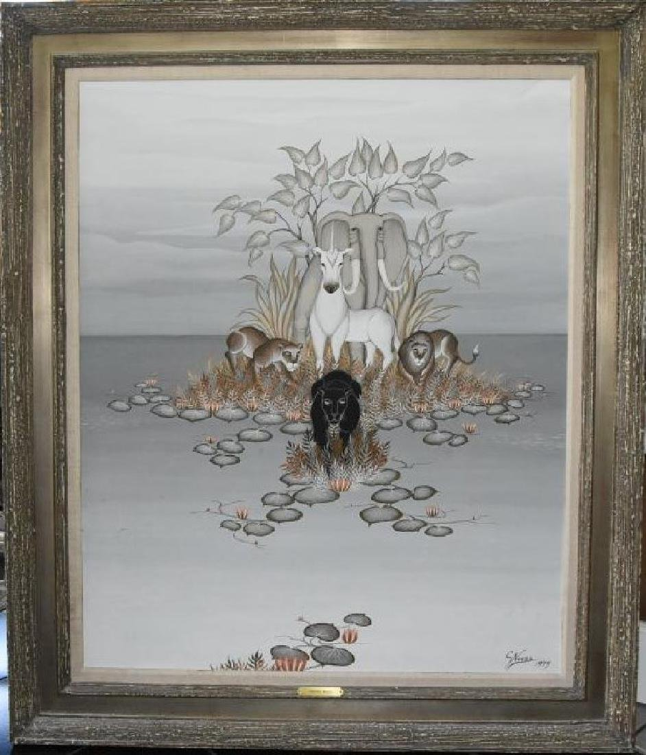 Gustavo Novoa Original Acrylic on Board