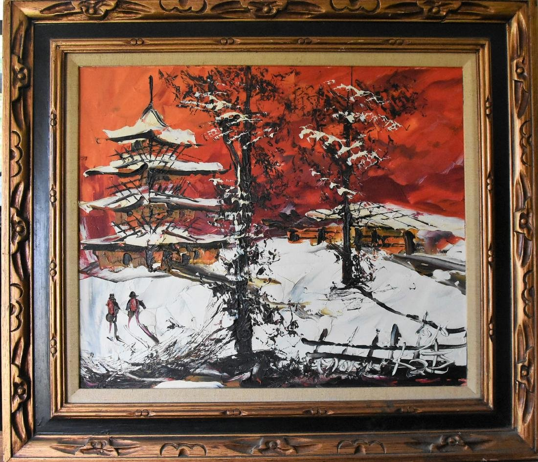 Original Morris Katz Oil on Canvas