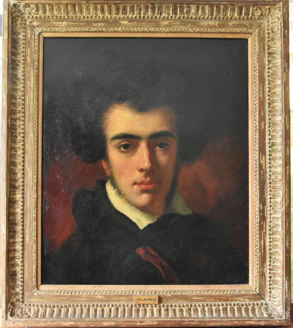 Eugene Delacroix original oil on canvas