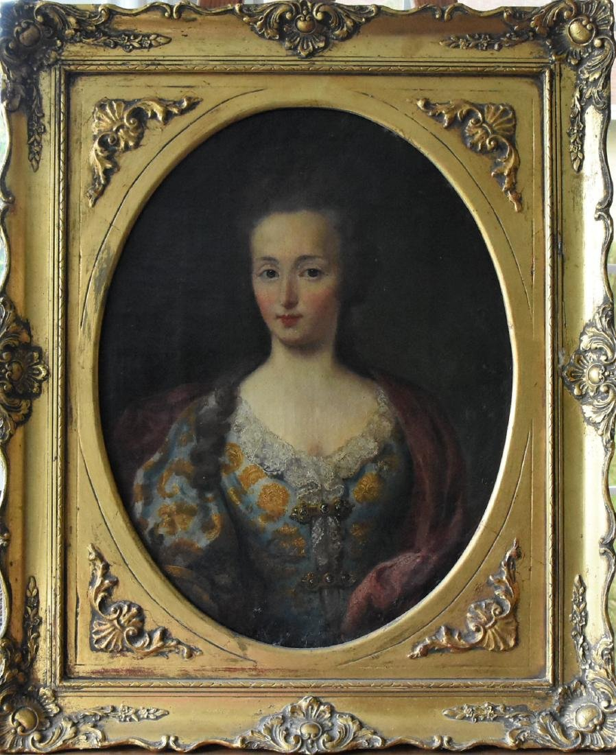 Original Oil on Canvas of Young Catherine the Great