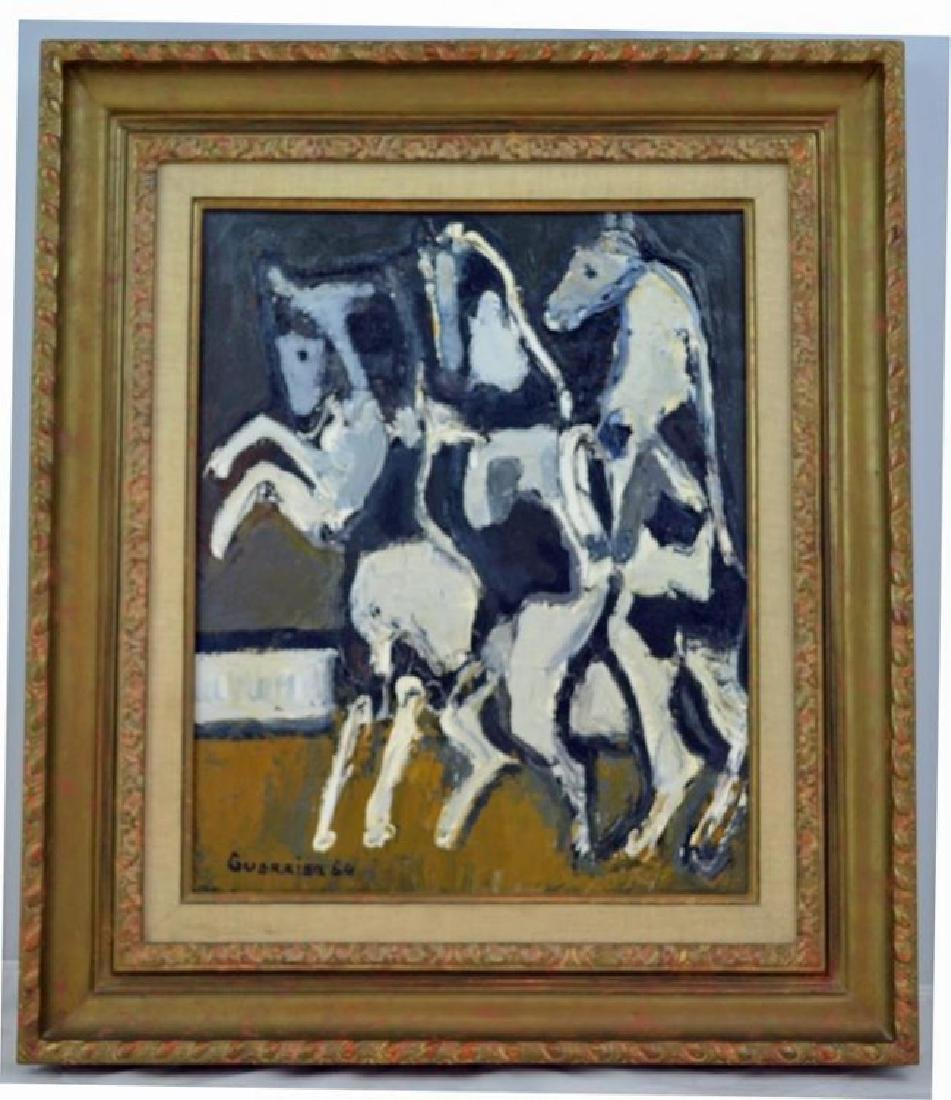 Original Raymond Guerrier Oil on Canvas 1964