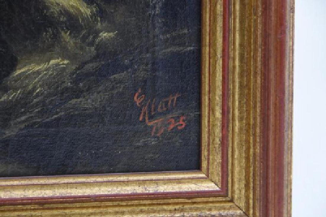 Original Signed E. Klatt 1925 Oil on Canvas - 2