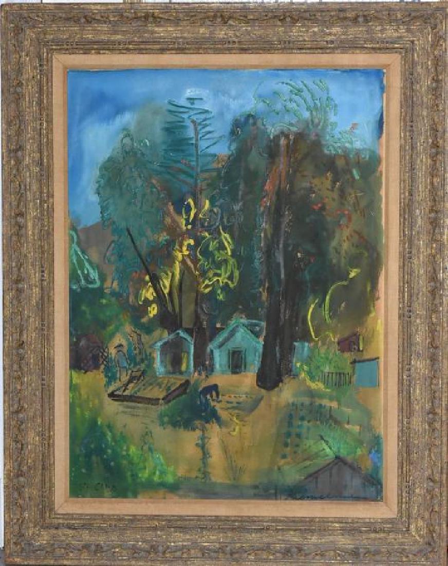 "Ludwig Bemelmans Original Oil on Canvas ""St. Cloud"""