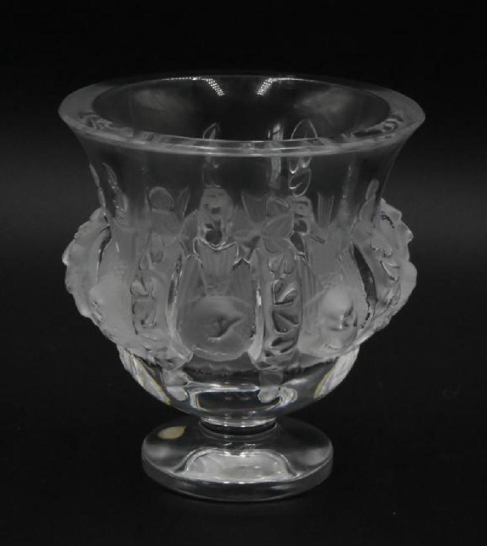 Lalique Dampierre Footed Vase