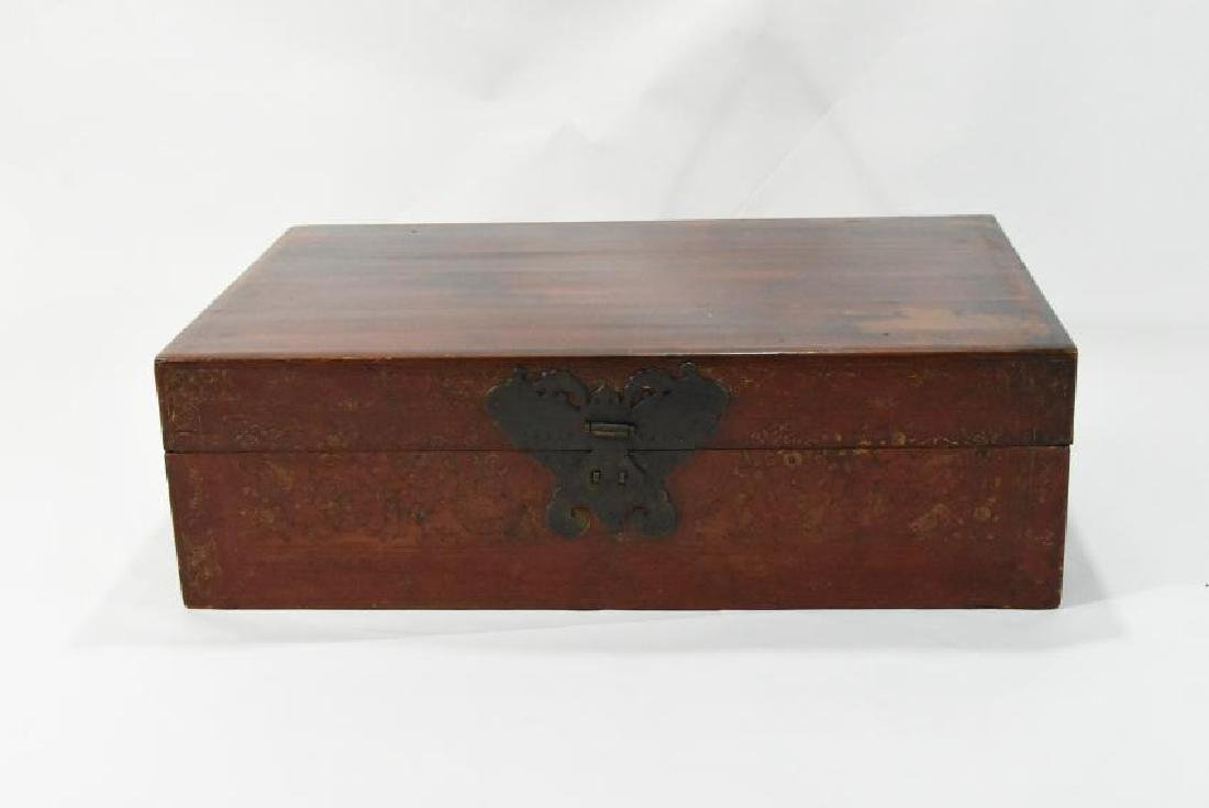 Japanese Leather Chest 1800s