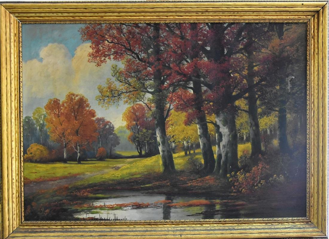 Original E. Brown (XVIII-XIX) Oil on Canvas
