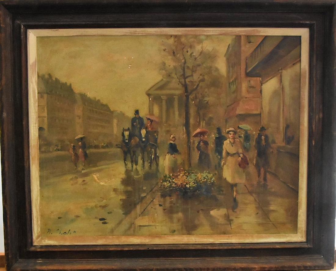 Original oil on canvas N. Chalet