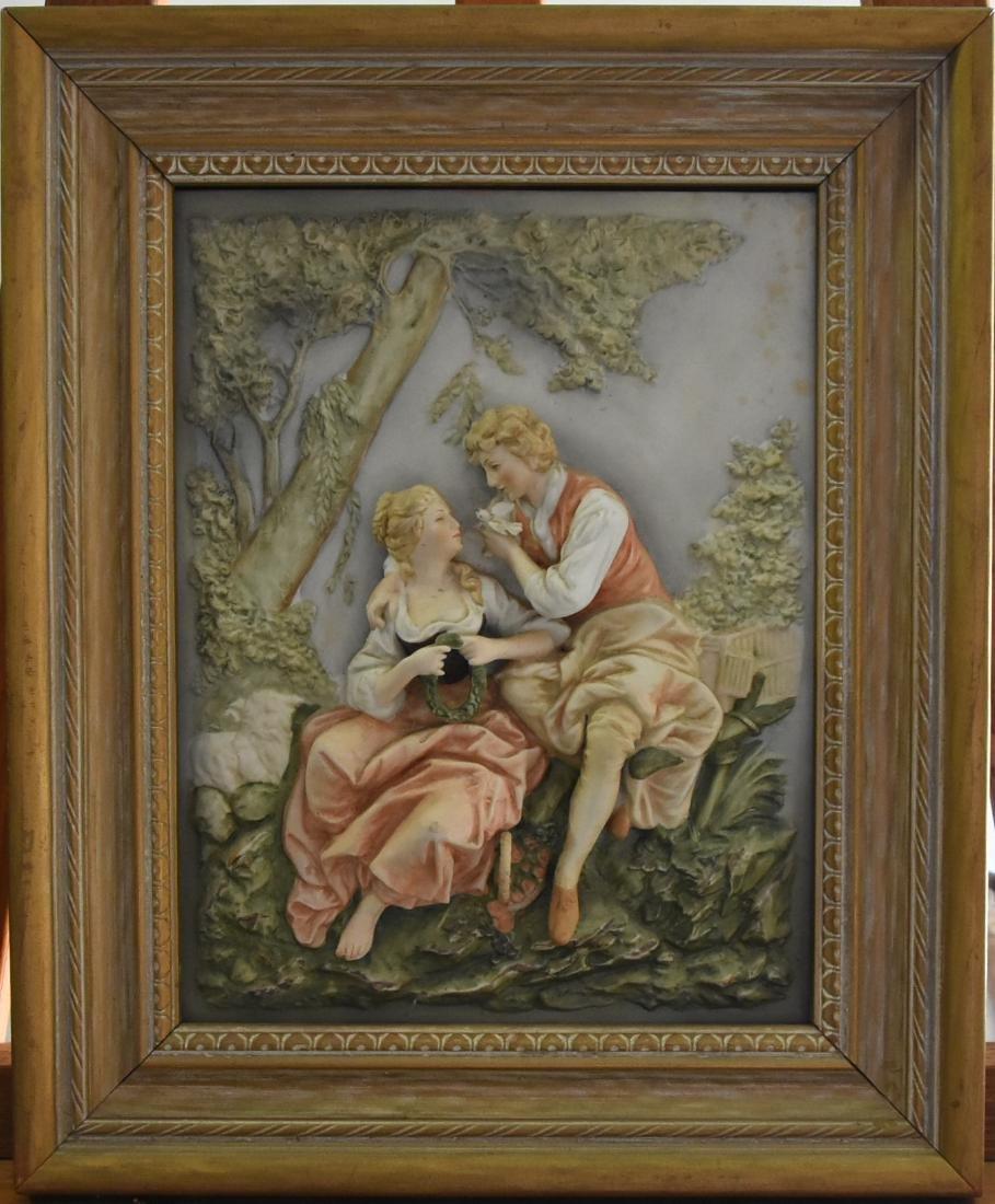 Italian Framed Porcelain Relief