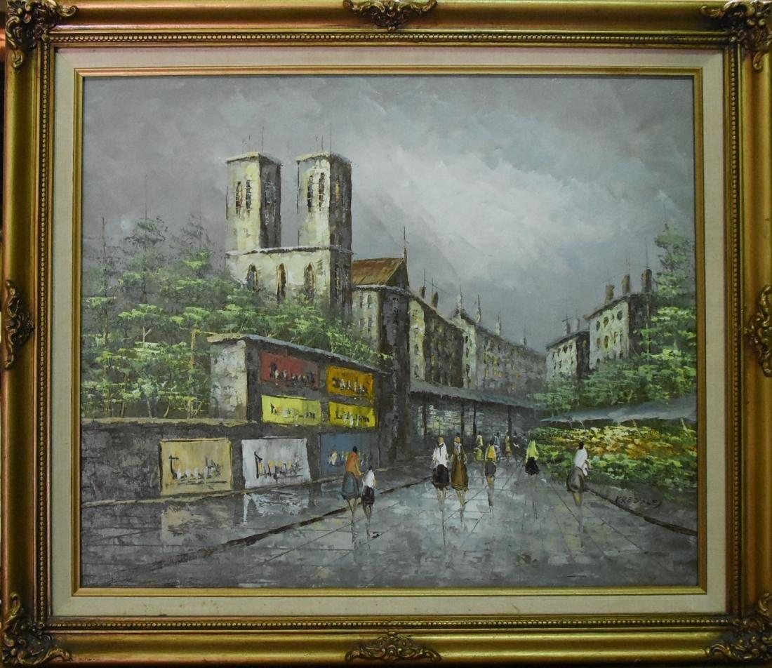 Original Oil on Canvas Signed Kressley