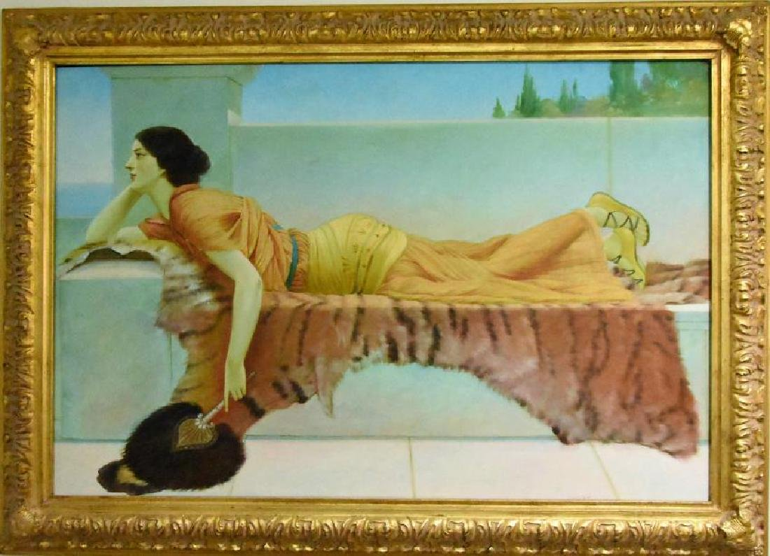 John William Godward in the manner of oil on canvas