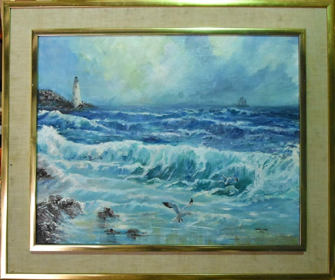 Marji Laks Original Oil on Canvas seascape