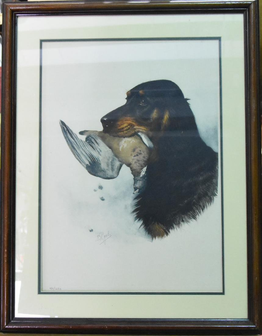 Signed and Numbered Lithograph Spaniel and Dove