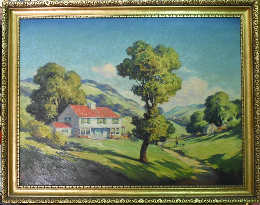 Marius Hubert Robert Original Oil on Canvas Signed
