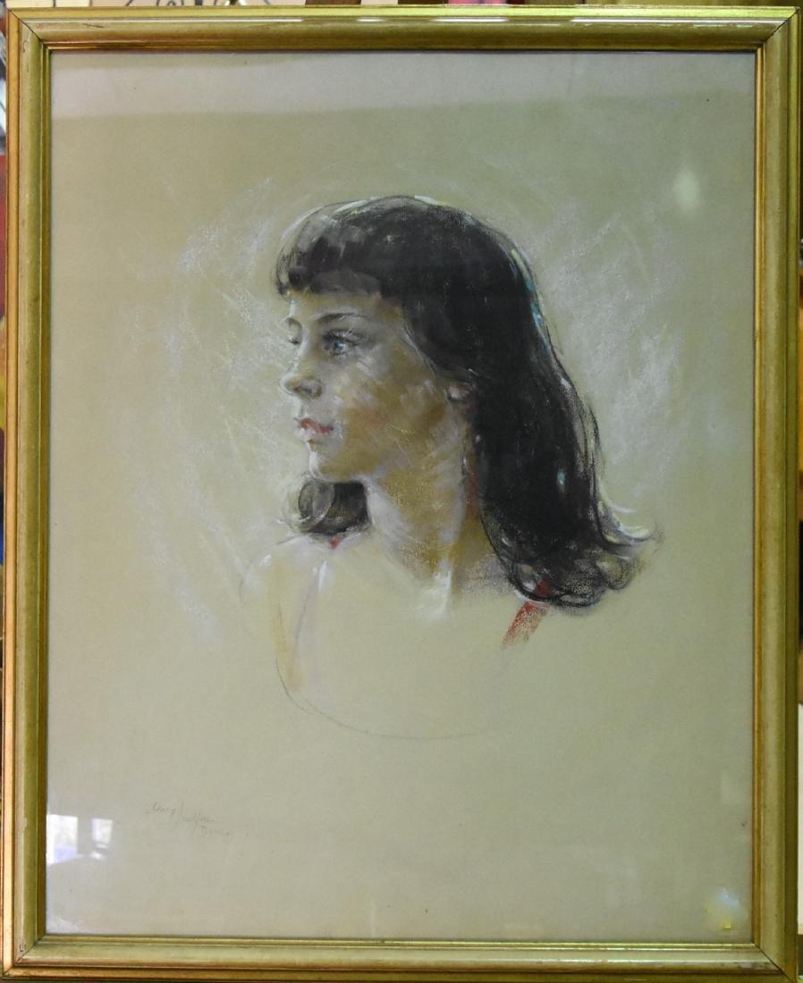 Original Pastel Portrait By Mary Davis